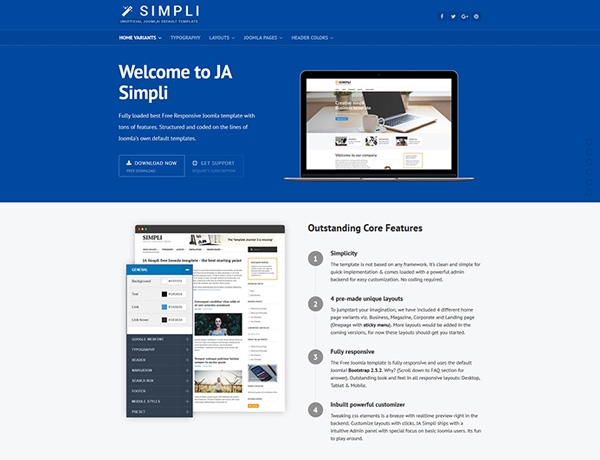 JA Simpli – Joomla Template